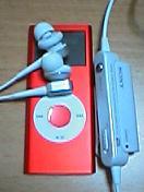 iPod nano と MDR-NC22